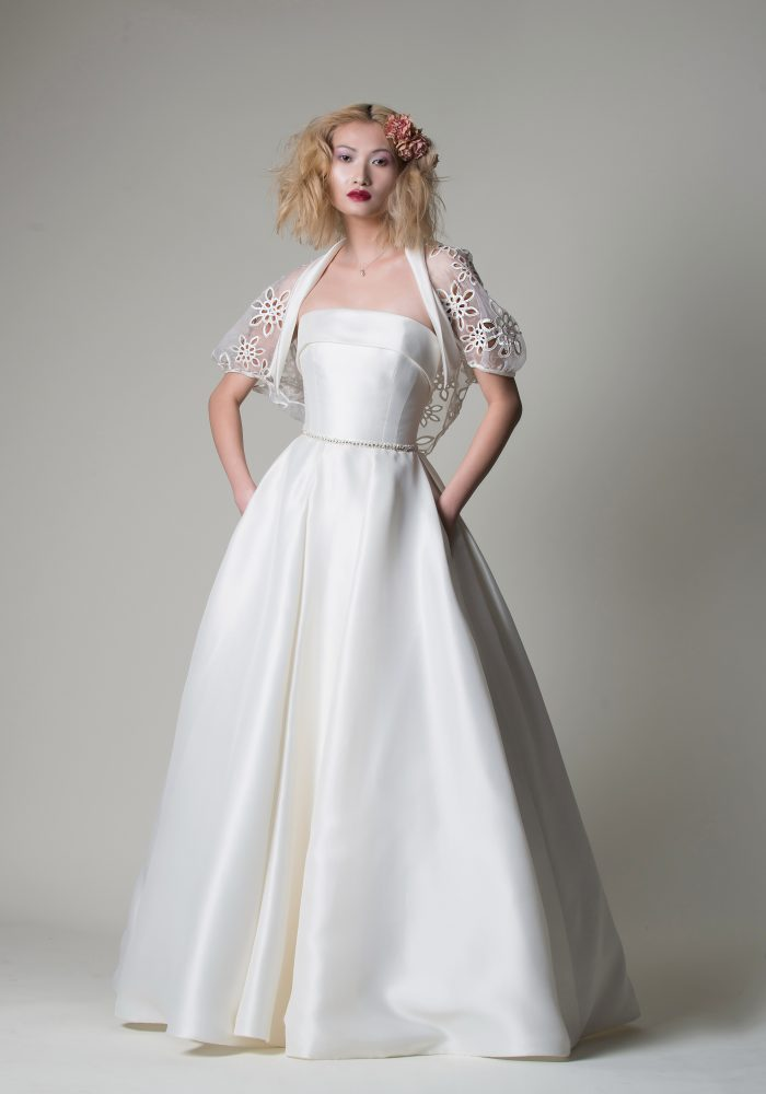 mikado wedding dress with jacket